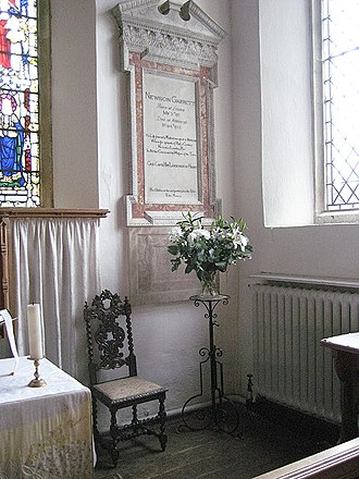 Newson Garrett - His memorial in the Lady chapel of Aldeburgh parish church