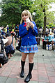 Cosplayer of Kotori Minami with Grass Mud Horse Doll in CWT39 20150228.jpg