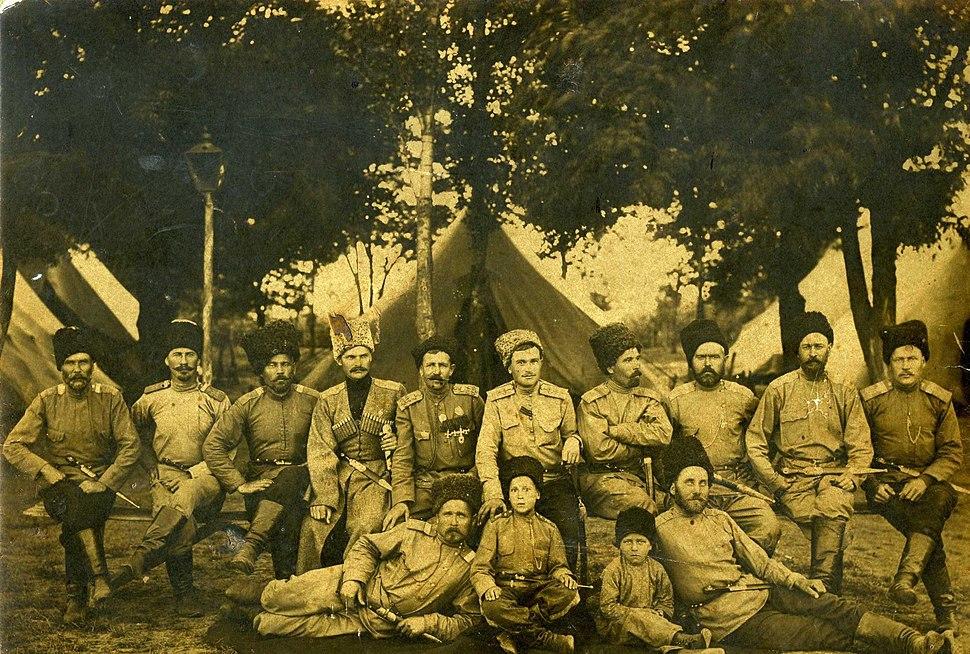 Cossacks. May 5, 1916. Goryachy Klyuch. Russian Empire
