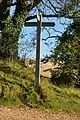 Cotswold Way signpost on Leckhampton Hill (6968).jpg