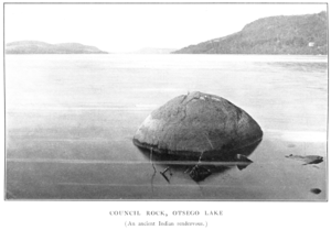 Otsego Lake (New York) - Council Rock, Otsego Lake