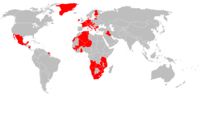 Countries currently governed by SI member, consultative, or observer parties (October 21, 2006)