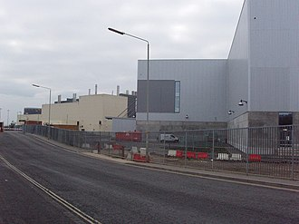 Pressed Steel Company - South-east facing side of Pressed Steel's Cowley site in January 2007 now home of MINI Plant Oxford