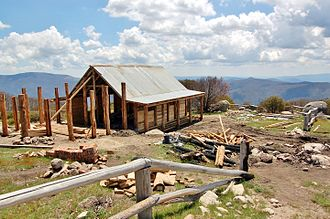 The Man from Snowy River (1982 film) - Craig's Hut undergoing reconstruction in 2007