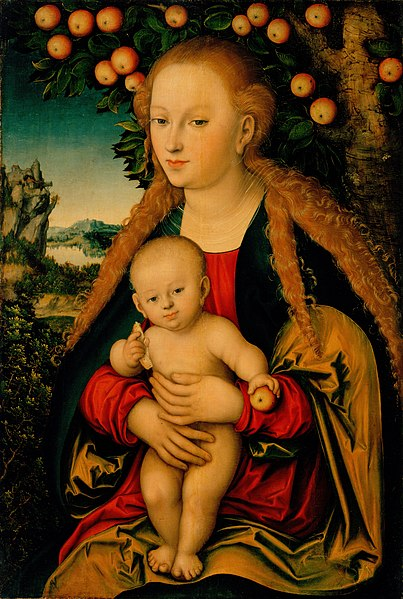 ファイル:Cranach, Lucas, I - The Virgin and Child Under an Apple Tree.jpg