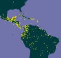 Crescentia cujete GBIFmap.png