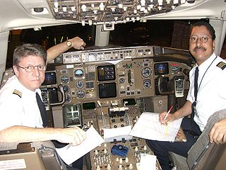 Pilot in command crew position responsible for control of an aircraft and ultimately responsible for all operations of the aircraft