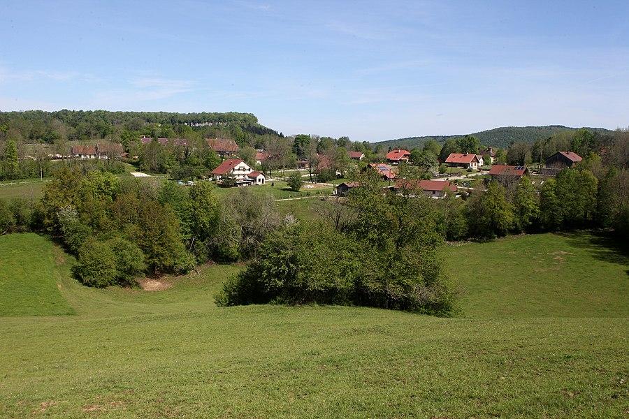 Vue de Crouzet-Migette (Doubs).
