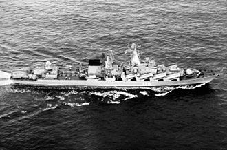 Russian cruiser Moskva - Slava c. 1983.