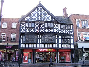 Grade II listed buildings in Chester (east) - Image: Currys formerly Ye Olde Royal Oak Hotel geograph.org.uk 674287