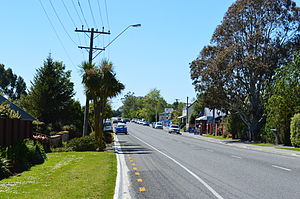 Cust, New Zealand - The main street of Cust - Cust Rd