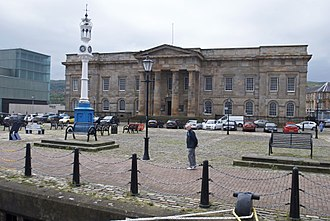 Greenock - The Custom House, viewed from the quay.