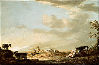 Landscape with Cattle and Figure