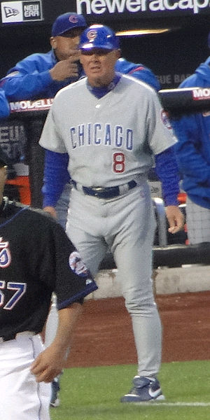 Mike Quade - Quade as third base coach for the Cubs in 2010.