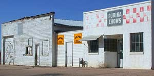 Severance, Colorado - Feed store in Severance. Agriculture remains the primary industry of the town, despite the construction of new residences in recent years.