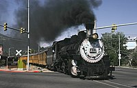 D and S 497 Leaving Durango June 1985xRP - Flickr - drewj1946.jpg