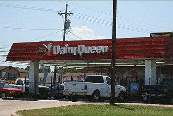 A typical Dairy Queen restaurant, located alon...