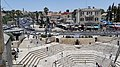 Damascus Gate plaza Jerusalem view from Old City Walls.jpg