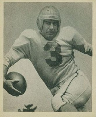 Dante Magnani - Magnani on a 1948 Bowman football card