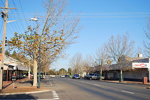 Dareton, New South Wales - Tapio Ave, the main street of Dareton.