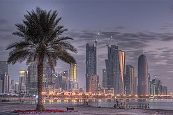 Dark clouds over West Bay Skyline in Doha.jpg