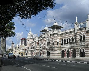 View on to the buildings on Dataran Merdeka (F...