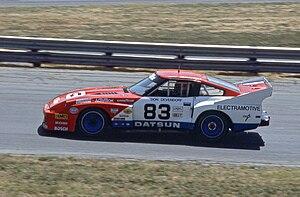 Tony Adamowicz - The Datsun 280ZX Turbo that Tony Adamowicz drove to the 1983 IMSA GTO Championship.