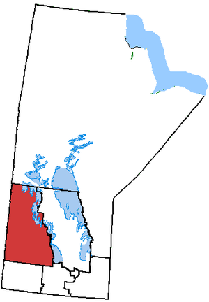 Dauphin—Swan River—Marquette - Dauphin–Swan River–Marquette in relation to other Manitoba federal electoral districts