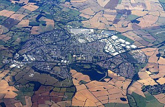 Daventry - Aerial photograph of Daventry taken from the east.