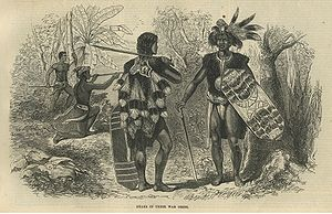 Dayaks in their War Dress