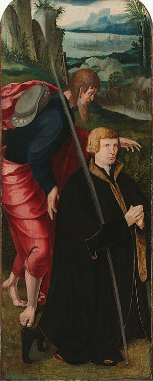 Wing of Lazarus tritptych with donor and Saint James