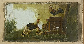 Decorative Piece with Poultry