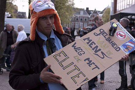 "2013 republican protester: ""Human equality. Down with the elite!"". Demonstrant-DSC 0295.jpg"
