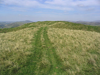 Dere Street - Iron Age hill fort associated with Dere Street at Pennymuir