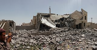 Destroyed house in the south of Sanaa 12-6-2015-1