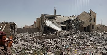 Destroyed house in the south of Sanaa 12-6-2015-1.jpg