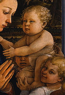Detail from Filippo Lippi - Madonna col Bambino e due angeli - Google Art Project.jpg