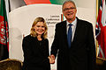 Development Secretary Justine Greening and EU Commissioner Mimica (15943998991).jpg