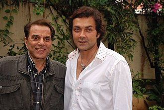 Bobby Deol - Dharmendra and Bobby Deol celebrate Father's Day at their residence