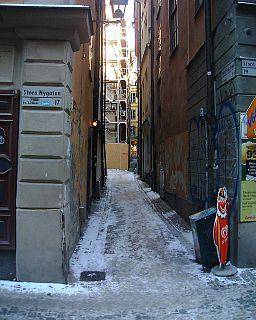 Didrik Ficks Gränd alley in Gamla stan, Stockholm, Sweden