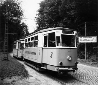 Kirnitzschtal tramway - The tramway in 1992