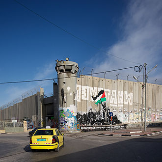 Bethlehem - Israeli West Bank barrier in Bethlehem in 2012