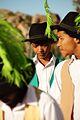 Die Nuwe Graskoue Trappers prepare for the Riel Dance.jpg