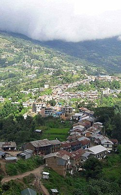 A view of Diktel Bazar, Khotang
