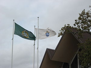 Anglican Diocese of Auckland - Flags of the Diocese of Auckland and the Holy Trinity Cathedral, Auckland.