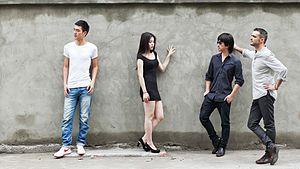 Roberto F. Canuto - Directors Roberto F. Canuto and Xu Xiaoxi with main actors of Ni Jing, Xia Ruihong and Wan Yinhui