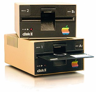 "Disk II series of 5.25"" floppy drives for Apple II series computers"