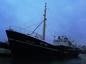 Ross Tiger - Ross Tiger seen at dusk in Grimsby's Alexandra dock.