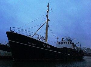 Ross Tiger - Ross Tiger seen at dusk in Grimsby's Alexandra dock.