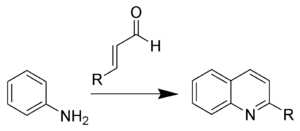 Doebner-Miller Reaction Scheme.png